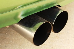 pipe, exhaust system, green,
