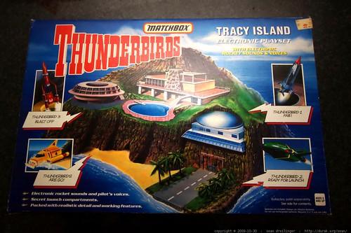 Tracy Island Box   matchbox thunderbirds tracy island electronic playset    MG 6968