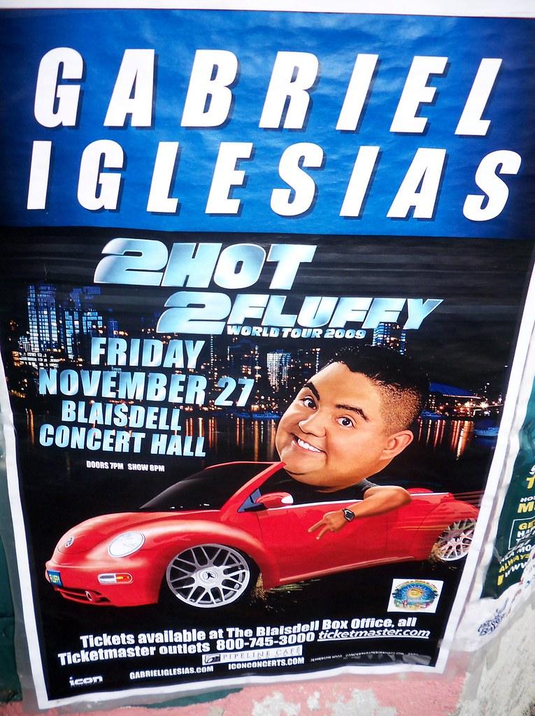 Gabriel Iglesias Poster 2 Hot 2 Fluffy Comedy World Tour Flickr