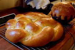 anpan(0.0), danish pastry(0.0), baking(1.0), tsoureki(1.0), bread(1.0), baked goods(1.0), ciabatta(1.0), challah(1.0), food(1.0), bread roll(1.0), dish(1.0), dessert(1.0), cuisine(1.0), brioche(1.0),