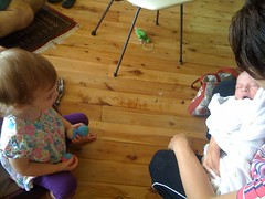 Ruby talks to the baby
