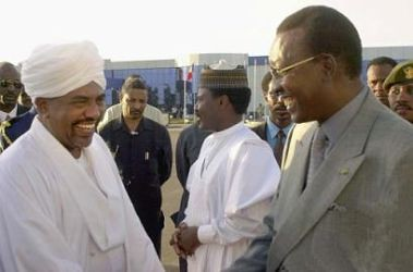 Sudan President Omar Hassan al-Bashir with Chadian leader Idris Deby during 2003. by Pan-African News Wire File Photos