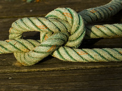 textile(0.0), wool(0.0), thread(0.0), knot(1.0), green(1.0), rope(1.0),