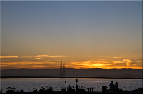 city summer woman man june clouds sunrise bench dawn golden bay san francisco couple power 21st solstice 100views redwood pylons slough blvd westpoint seaport npw 1272