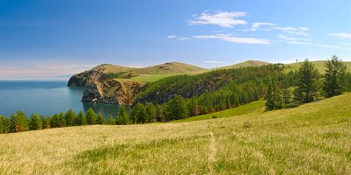 summer lake mountains landscape geotagged russia plateau siberia larch 2009 baikal panoram olkhon nikond300 irkutskoblast saganhushun tokinaaf288028 horaundur