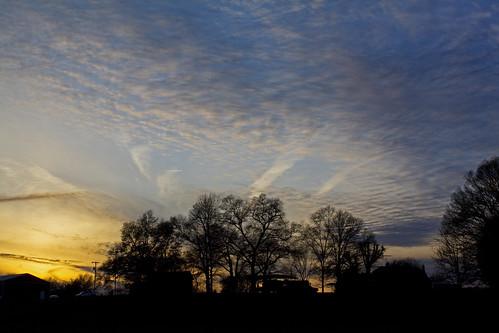 trees sunset sky sun clouds nc farm northcarolina davidhopkinsphotography ncpedia