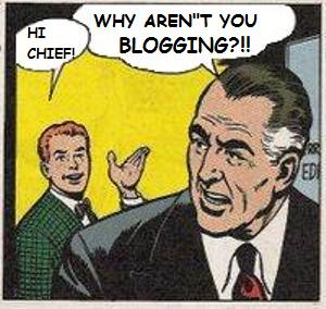 Remixing of a comic to talk about blogging.