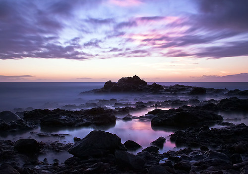 sunset water coast rocks purple tenerife teneriffa neutraldensityfilter canonef24105mmf4lisusm
