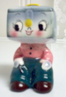 PY Anthropomorphic Cash Box Head Salt and Pepper Shaker