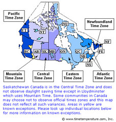 Canada Time Zones Map Mike Windsor Flickr