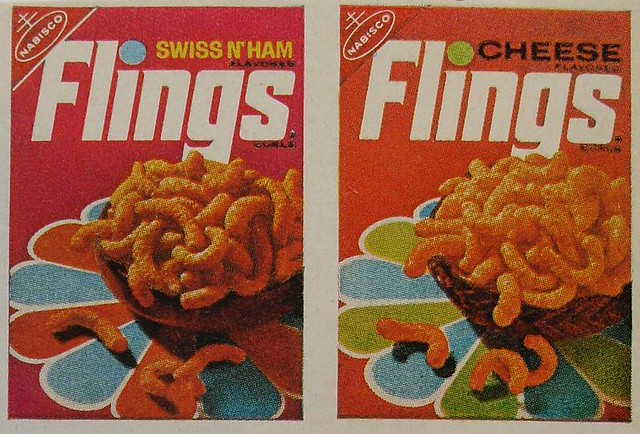 1960s NABISCO Crackers FLINGS Advertisement Vintage Graphics