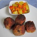 Indische Bällchen mit süß-saurem Gemüse