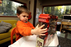 unwrapping a new bruticus maximus transformer toy