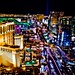 Las Vegas skyline at night by justin fain