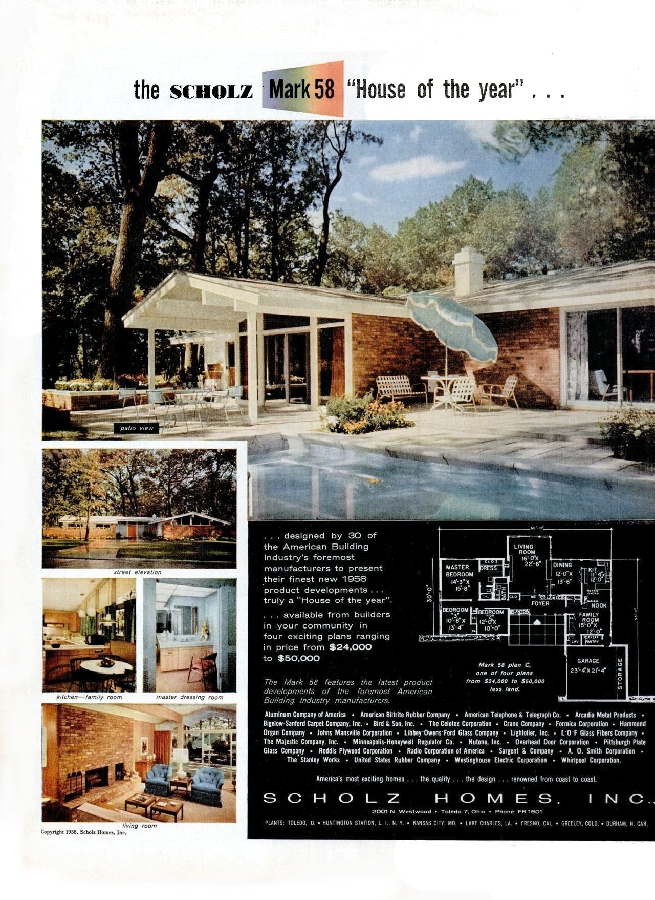 Scholz homes mark 58 explore midcentarc 39 s photos on for Scholz house plans
