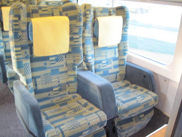 Green car shinkansen (bullet train)