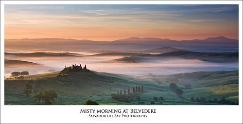 salvadordelsaz salvadelsaz italy italia toscana tuscany valdorcia belvedere spring morning misty mist fog dawn landscape panorama lee filter singleraw 09gnd neutraldensitygraduated canon eos 40d 70200mmf28is polarizer
