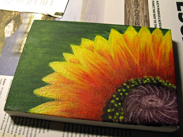 Mini art project canvas painting flickr photo sharing for Cool easy things to paint