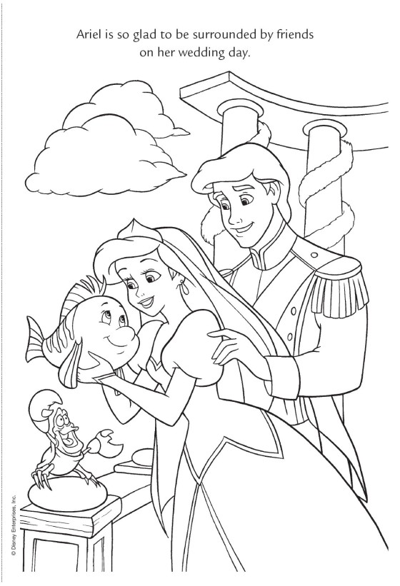 ariel coloring pages wedding dresses - photo#25