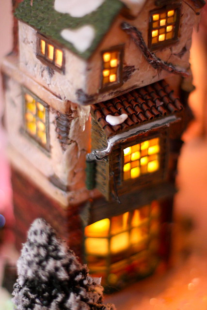 The warm glow of a winter house from Flickr via Wylio