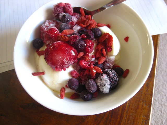 Frozen Berries and Greek Yoghurt