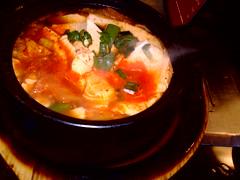 seafood(0.0), bouillabaisse(0.0), produce(0.0), jjigae(1.0), kimchi jjigae(1.0), hot pot(1.0), sundubu jjigae(1.0), food(1.0), dish(1.0), soup(1.0), cuisine(1.0),