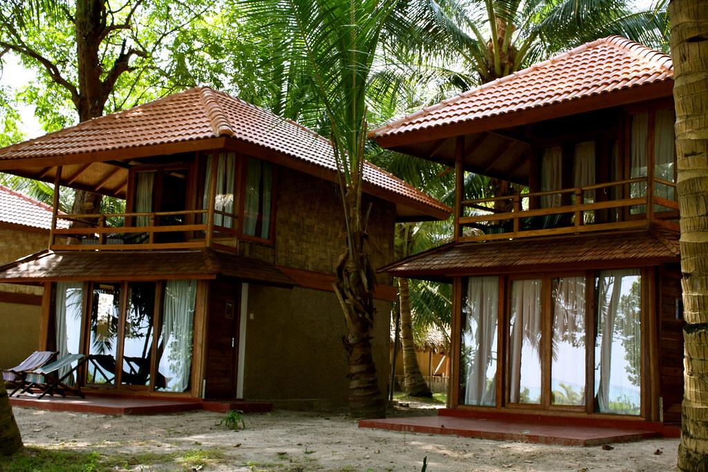 Fancier 3500 rupees huts beside mine