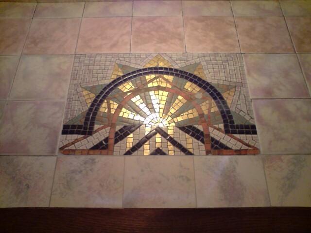 Foyer Tile Mosaic : Plaza mosaic tile sunburst to foyer flickr photo sharing