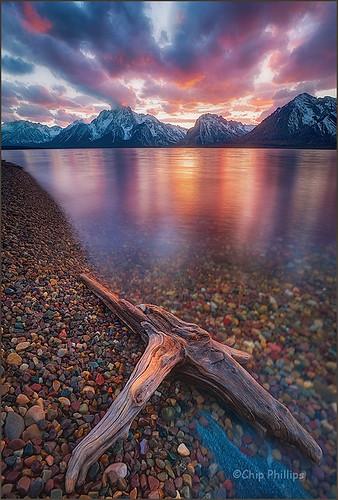 park sunset lake reflection landscape photography phillips grand jackson driftwood national chip wyoming teton ostrellina