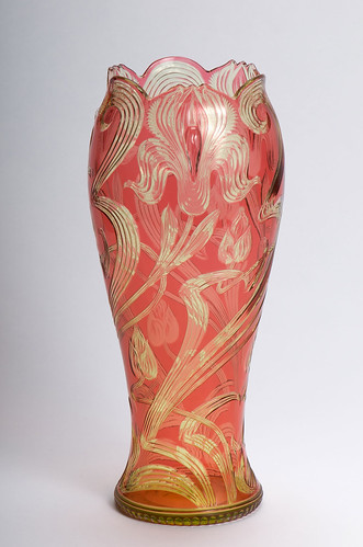 Stevens & Williams Art Nouveau style vase, BH3128