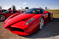 Goodwood Breakfast Club March 2010 Red Ferrari Enzo Front Quarter 10mm Shot