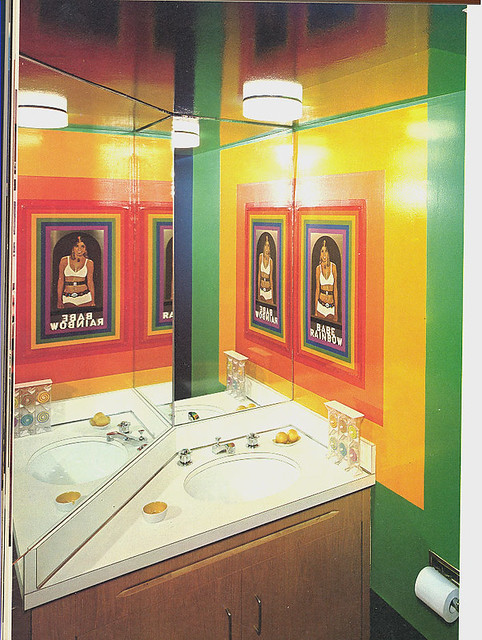 Babe rainbow bathroom