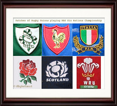 RBS' SIX NATIONS CRESTS PATCHES