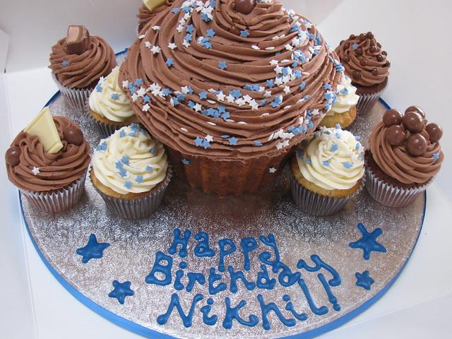Cake Images With Name Nikhil : Giant Cupcake for Nikhil s Birthday www.bluedoorbakery ...