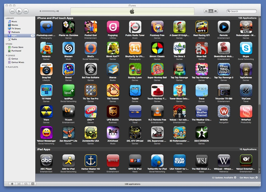 How iPad Apps are organized
