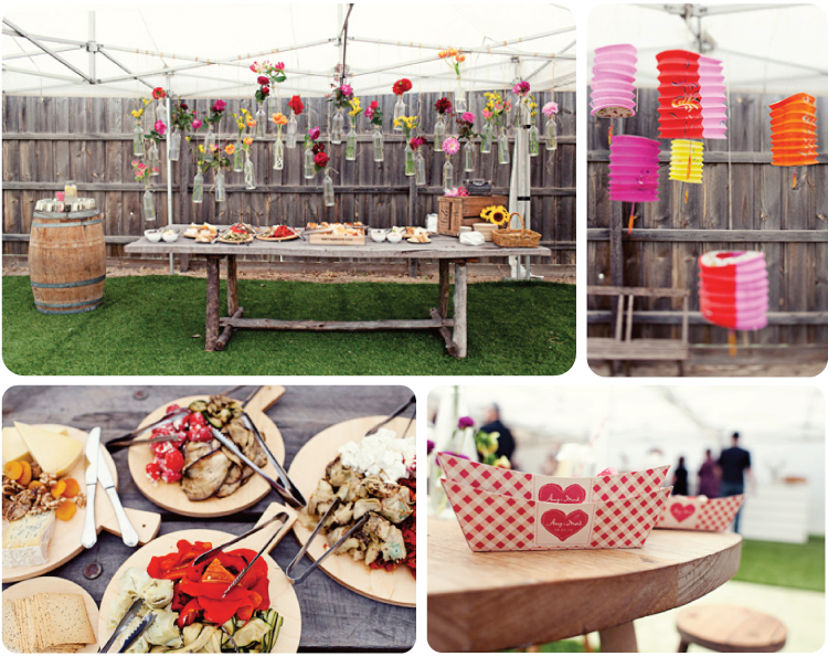 Hello my dear blog pretty party bbq engagement for Backyard engagement party decoration ideas