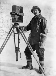 Herbert George Ponting and cinematograph, Antarctica, January 1912