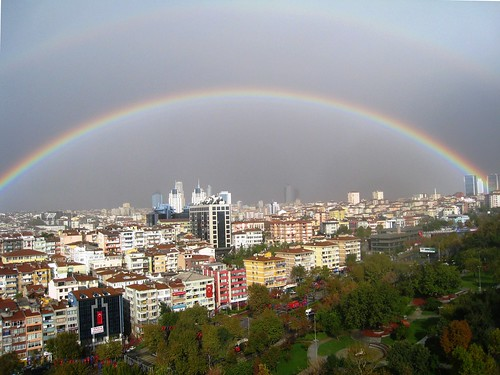 Surreal Rainbow Over Istanbul