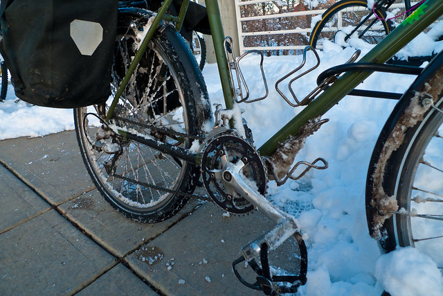 Slushy Boulder Bike by Zane Selvans on flickr