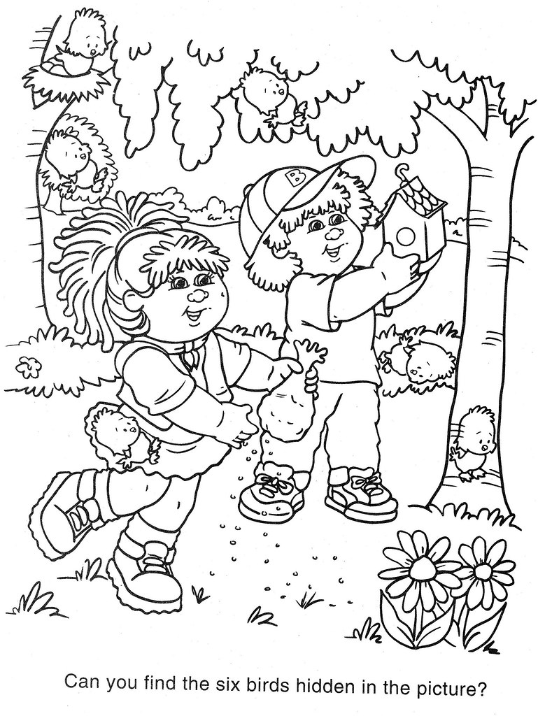 cabbage patch coloring pages - photo#45