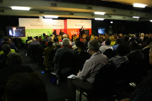 Delegates at the first keynote address of the 4th World Summit