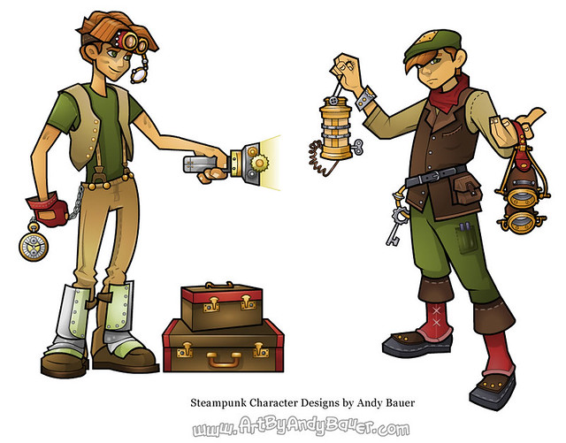 Steampunk Character Designs by Andy Bauer