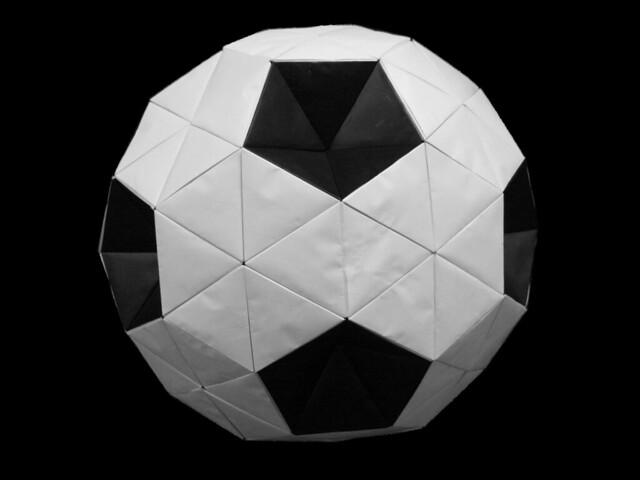 truncated icosahedron origami quotsoccer ballquot modular