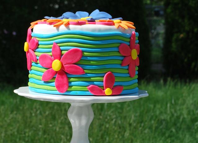 Flower Garden Cake Design