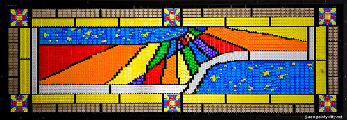 Stained Glass Lego Sundial