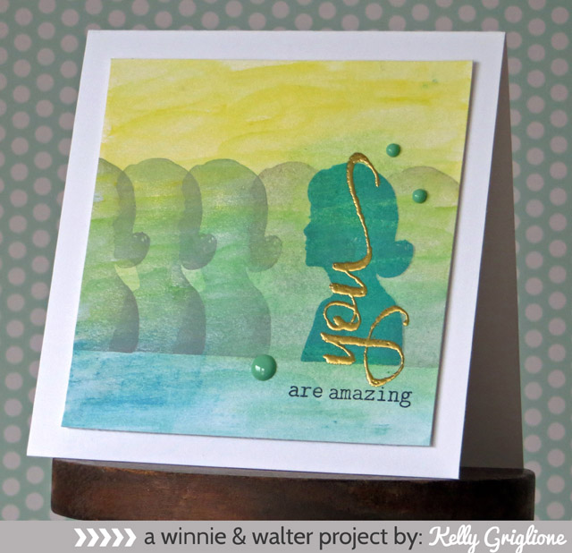 Kelly_Big Bold You Female Silhouette Card