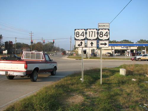 louisiana highways roadsigns highwaysigns us84 us171