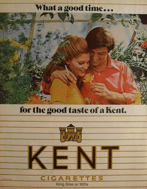1970 KENT Cigarettes vintage advertisement smoking