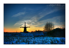 Windmill in the Snow (HDR)