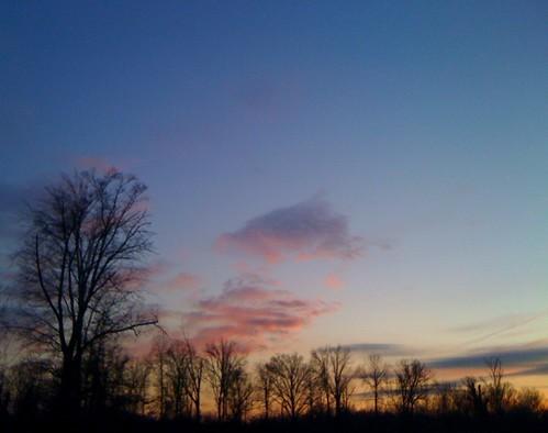 trees sunset sky sun clouds iphone